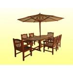 ကြ်န္းျဖင့္ျပဳလုပ္ထားသည့္ ဥပံုစံ ရွိေသာ စားပြဲ နွင့္ ကုလားထိုင္ ( Oval Tables & Chair )