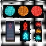 LED Solar Traffic Light & Countdown