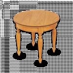 သပ္ရပ္လွပသည့္ ကြ်န္း စားပြဲဝိုင္း ( Round Side Table )