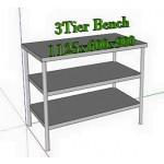 သပ္ရပ္ လွပသည့္ အဆင့္သံုးဆင့္ပါ စတီးလ္ စားပြဲ ( 3 Steel Tier Bench )