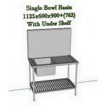 ေသသပ္လွပီး အသံုးျပဳရ လြယ္ကူေသာ စတီးလ္ ေဘစင္ ( Steel bowl basin with under shelf )