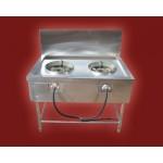 မ်က္နွာ ျပင္နွစ္ခုပါ သဘာဝ ဓာတ္ေငြ ့သံုး ဂတ္စ္ မီးဖို ( 2 burner gas stove )
