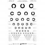 Distance Vision Chart (3m), Landolt C Distance Chart