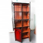 MDF Book Case/Cupboard With Glass Door